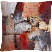 Trademark Fine Art Cube Abstract V Decorative Throw Pillow