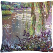 Trademark Fine Art Homage to Monet Decorative Throw Pillow