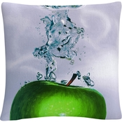 Trademark Fine Art Apple Splash II Decorative Throw Pillow