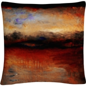 Trademark Fine Art Red Skies at Night Decorative Throw Pillow