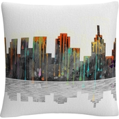 Trademark Fine Art Philadelphia Pennsylvania Skyline Decorative Pillow