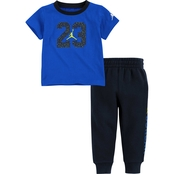 Jordan Toddler Boys Speckle 23 Tee and Jogger Pants 2 pc. Set