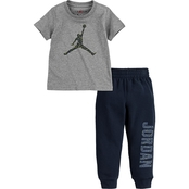 Jordan Toddler Short Sleeve Speckle Jumpman and Jogger 2pc Set