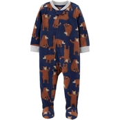 Carter's Toddler Boys Navy Bear 1 pc. Footie Pajamas