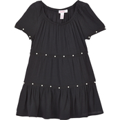 Pony Tails Girls Gauze Tunic With Trim