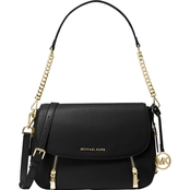 Michael Kors Bedford Legacy Medium Flap Leather Shoulder Handbag