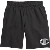 Champion Powerblend Fleece Shorts with Big C Logo
