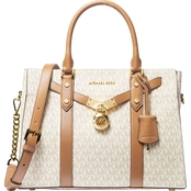 Michael Kors Hamilton Large Signature Satchel Handbag