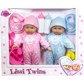 Lissi Dolls 11 in. Twin Baby Doll 10 pc. Play Set