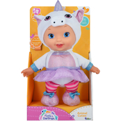 New Adventures Little Darlings Animal Cuties 11 in. Baby Doll with Unicorn Outfit