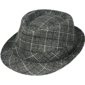 Henschel Hats Cotton Plaid Fedora