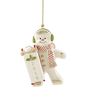Lenox 2019 Sledding Gingerbread Ornament