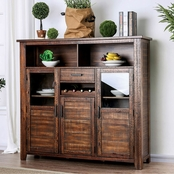 Furniture of America Wichita Light Walnut Server