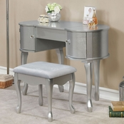 Furniture of America Lilita Vanity with Mirror and Stool