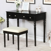 Furniture of America Baylee Vanity with Mirror and Stool