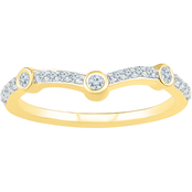 14K Yellow Gold with 1/6 CTW Diamond Anniversary Ring