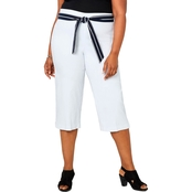 Avenue Plus Size Super Stretch Capri with Scarf Belt