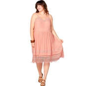 Avenue Plus Size Lace Trimmed Sundress