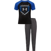 Under Armour Little Boys Homeplate Logo Tee and Pants 2 pc. Set