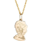Disney 14K Yellow Gold Frozen Elsa Pendant with 15 in. Chain