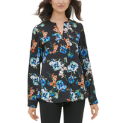 Calvin Klein Printed Roll Sleeve Crew Top