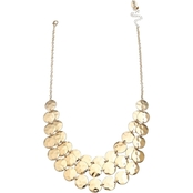 Jules b 3-Row Hammered Disc Necklace