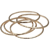 Jules b Hammered Bangle Set