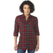 Passports Button Back Plaid Shirt