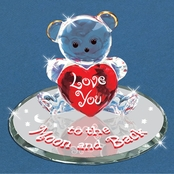 Glass Baron Handcrafted Bear Moon and Back Glass Art