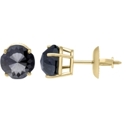 10K Yellow Gold 1 CTW Black Diamond Stud Earrings