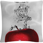 'Red Apple Splash' by Roderick Stevens 16 x 16 Decorative Throw Pillow