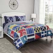 Lavish Home Mariner 3 pc. Quilt Set