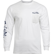 Striper Flag Long Sleeve Pocket Tee