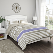 Lavish Home Seaside 3 pc. Reversible Down Alternative Bedding Set