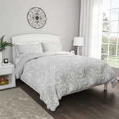 Lavish Home Bed of Roses 3 Pc. Reversible Comforter Set