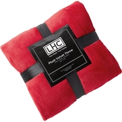 Microfiber Velvet Throw Blanket (Vineyard Red)