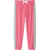 Pony Tails Little Girls French Terry Side Stripe Jogger Pants