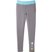Pony Tails Little Girls Active Leggings with Foil Stars