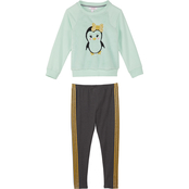 Pony Tails Little Girls Penguin Top and Legging 2 pc. Set