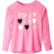 Pony Tails Girls Active Tee with Mesh Sleeve Insets