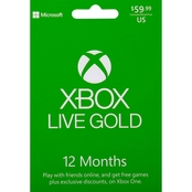 Xbox Live 12 Month Gaming Card
