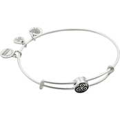 Alex and Ani Triskelion Symbol Bead Expandable Wire Bangle