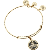 Alex and Ani Embossed Paint Charm Triskelion Expandable Wire Bangle