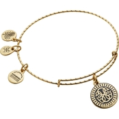 Alex and Ani Embossed Paint Charm Path of Life Expandable Wire Bangle