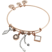 Alex and Ani Love Cluster Expandable Wire Bangle