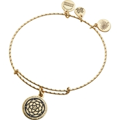 Alex and Ani Embossed Paint Charm New Beginnings Expandable Wire Bangle