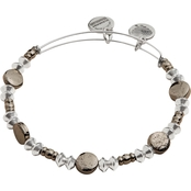 Alex and Ani Silvertone Echo Two Tone Expandable Wire Bangle Bracelet
