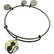 Alex and Ani Color Infusion Black Cat Expandable Wire Bangle