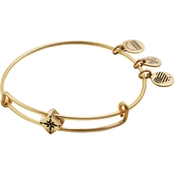 Alex and Ani Compass Symbol Expandable Wire Bangle Bead Bracelet