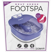 Conair Heat Sense Foot and Pedicure Spa with Heated Bubble Massage